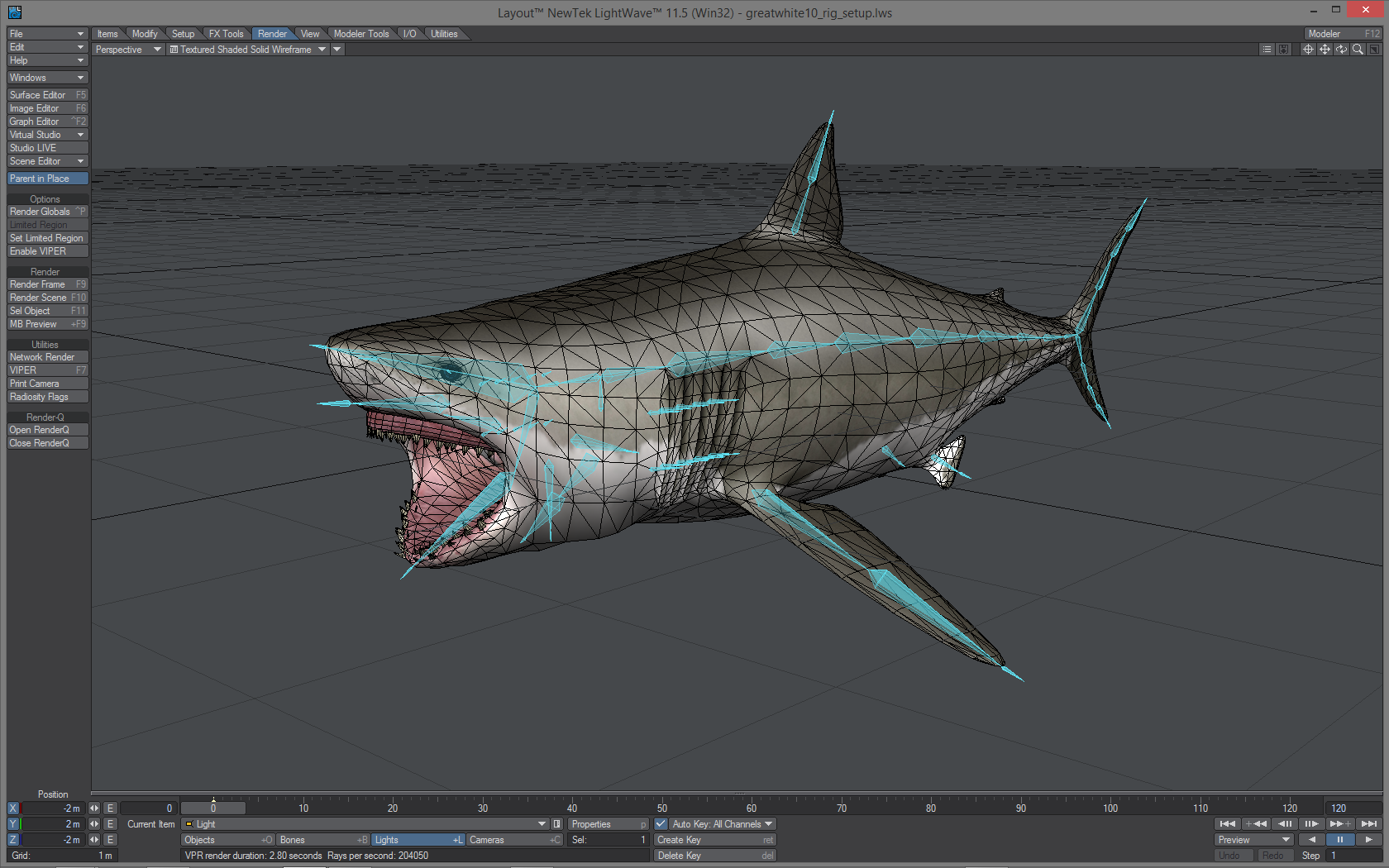 Restyled Great White inside Lightwave